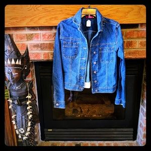SO BRAND JEAN JACKET SIZE JUNIORS LARGE